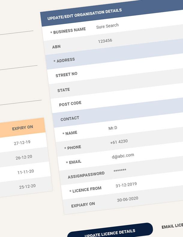 Web app design for a Site Seen Management